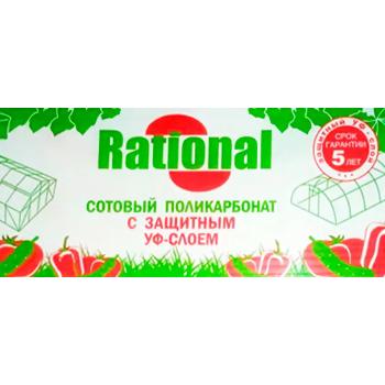 """Купить сотовый поликарбонат 3,5мм """"Rational"""" прозрачный"""