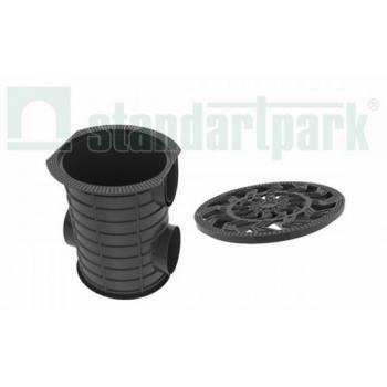 Дождесборник S'park ДС-25-ПП пластиковый круглый с решеткой пластиковой.