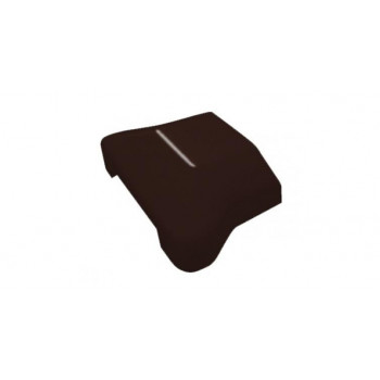 Крышка коричневая RAL 8017