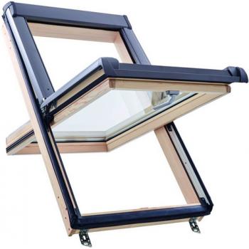 Окно Q-4 H2СAL P5 из дерева (однокамерное)