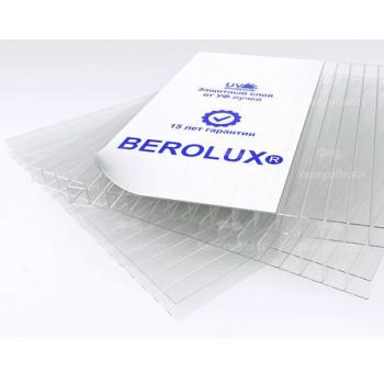 """Сотовый поликарбонат 25 мм """"Berolux"""" Прозрачный"""