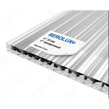 """Сотовый поликарбонат 32 мм  """"Berolux"""" Прозрачный"""