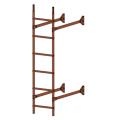 Лестница стеновая  ELITE 400: Коричневая медь - Ral 8004