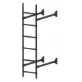 Лестница стеновая  ELITE 400: Серый графит - Ral 7024