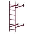 Лестница стеновая  ELITE 400: Вино - Ral 3005
