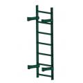 Лестница пожарная П1-1: Зелёный мох - Ral 6005