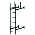 Лестница стеновая PRESTIGE : Чёрный - Ral 9005