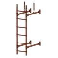 Лестница стеновая PRESTIGE : Коричневая медь - Ral 8004