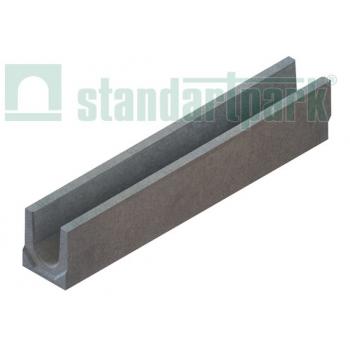 Лоток водоотводный BetoMax Basic DN100 H130 бетонный