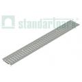 Решетка водоприемная Basic DN100 оцинкованная стальная штампованная щелевая.