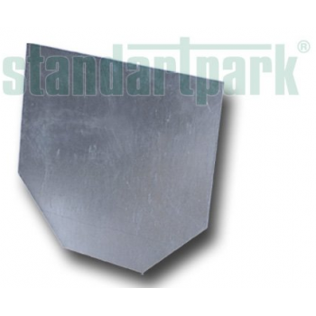 Заглушка стальная оцинкованная для бетонного лотка.
