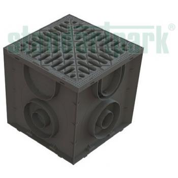 Дождеприемник S'park пластиковый 250х250 с пластиковой решеткой