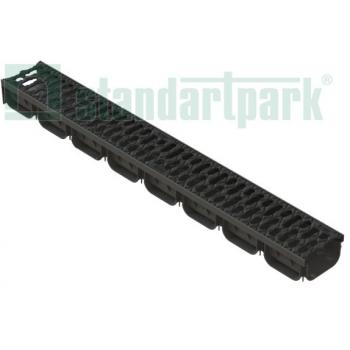Лоток водоотводный S'park пластиковый DN100 h100 с решеткой чугунной
